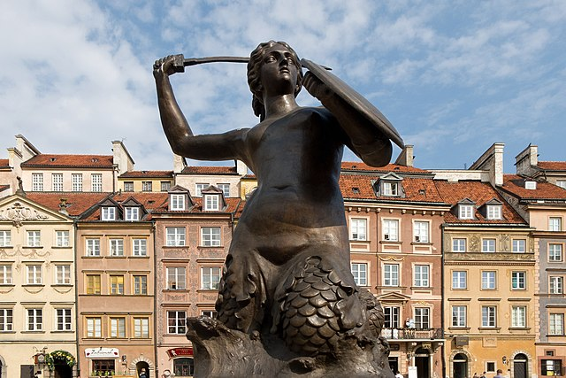 > Sirène du Rynek (place du marché) de la Vieille ville de Varsovie. Photo de Carlos Delgado.
