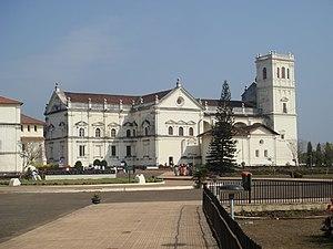 The Sé de Santa Catarina Cathedral in Old Goa ...