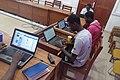 Séance de téléversement de photos pour le concours Wiki Loves Africa 2019 avec les wikimédien du Bénin ce 20 février 2019.jpg