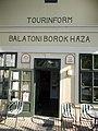 Sümegi House. Tourinform. Listed. Entrance. - 5 Blaha Street, Balatonfüred.JPG