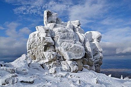Słonecznik (Mittagstein, Polední kámen) - Karkonosze (Riesengebirge) mountains