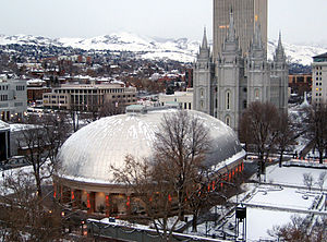 Salt Lake Tabernacle - The Tabernacle in December 2008.