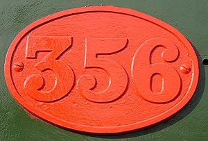 South African Class 6 4-6-0 - CGR number plate