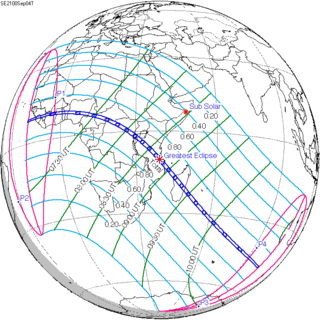 Solar eclipse of September 4, 2100 Future total solar eclipse
