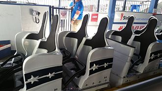 The New Revolution (roller coaster) - New seats on the New Revolution