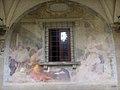 SMN Chiostro Grande e09 Cosimo Gamberucci, San Tommaso viene cinto da due angeli con cingolo di perpetua castità.JPG