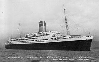 SS Pasteur (1938) - Image: SS Pasteur Hdouay 4