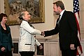 SSecretary Clinton and EU High Representative Ashton Meet With ecretary Clinton Shakes Hands With Chairman of the Presidency of Bosnia and Herzegovina Izetbegovic (8141574591).jpg