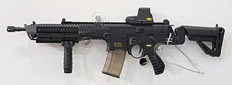 ST Kinetics - The Conventional Multirole Combat Rifle on display at the Singapore Airshow 2014
