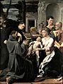 Sacra famiglia con i santi Francesco d'Assisi, Antonio da Padova e Giovanni Evangelista, Girolamo Mazzola Bedoli 001.JPG