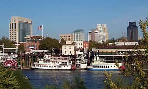 This is a picture of the Sacramento Riverfront...