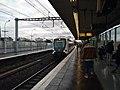 Saint-Maur-Créteil - Train RER arrivant en gare dir. St-Germain (déc 2018).jpg
