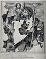 Saint Christopher. Reproduction of lithograph. Wellcome V0031872.jpg