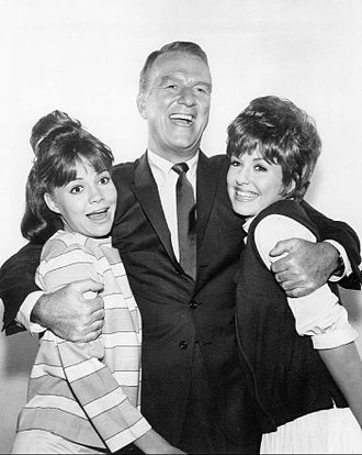 Gidget (TV series) - Don Porter with Sally Field and Betty Conner, 1965.