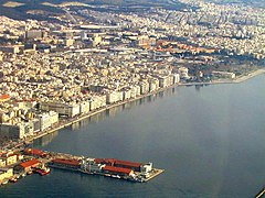 Aerial view of Thessaloniki's port