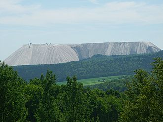"Heringen - The Salzberg (""Salt Mountain"", also known locally as ""Monte Kali"") at the Wintershall potash works in Heringen"