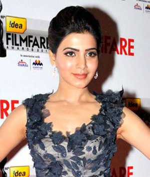 Attarintiki Daredi - Image: Samantha Ruth Prabhu at 60th South Filmfare Awards 2013