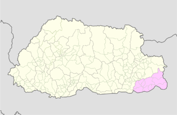 Location of Samrang Gewog