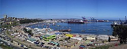 Panorama of the port of San Antonio