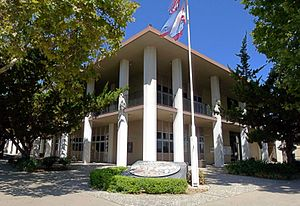 Hollister, California - County offices, such as the former San Benito County Courthouse, are located in the county seat of Hollister.