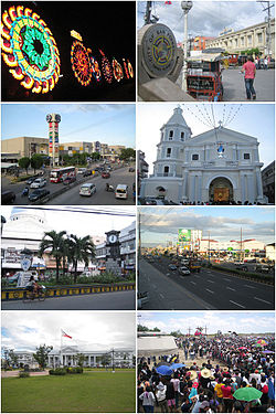 (From top, left to right): Giant Lantern Festival, San Fernando City Hall, SM City Pampanga, Metropolitan Cathedral of San Fernando, 250th Anniversary Clock Tower, Jose Abad Santos Avenue (Olongapo-San Fernando-Gapan Road), Pampanga Provincial Capitol and San Pedro Cutud Lenten Rites