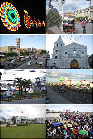 San Fernando, Pampanga - (From top, left to right): Giant Lantern Festival,  San Fernando City Hall, SM City Pampanga, Metropolitan Cathedral of San Fernando, 250th Anniversary Clock Tower, Jose Abad Santos Avenue (Olongapo-San Fernando-Gapan Road), Pampanga Provincial Capitol and San Pedro Cutud Lenten Rites, SM City San Fernando
