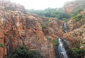 Eparchaean Unconformity - Image: Sandstone of detrital quartz rocks at Kapilatheertham Tirupati