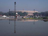 Parliament building in New Delhi (Sansad Bhava...