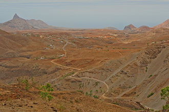 Santa Catarina, Cape Verde - Typical landscape of Santa Catarina