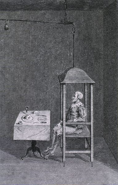 Santorio Santorio (1561–1636) in his balance