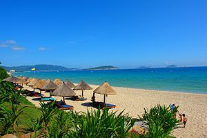The beach in Sanya