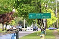 Saratoga Springs border sign seen from Greenfield, New York.jpg