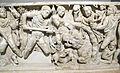 Sarcofago con caccia al cinghiale calidonio, 250-300 dc ca, da sepolcro VIII necr. via triumphalis 02.JPG