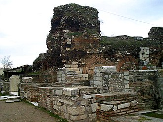 Sardis - Remains of the Greek Byzantine shops in Sardis