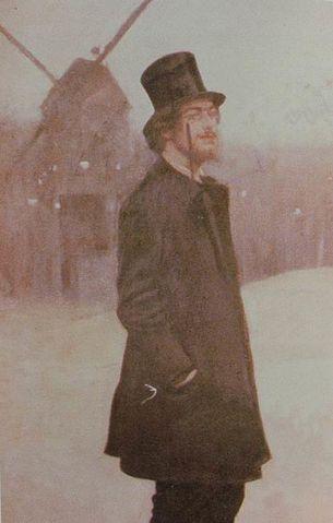 Рамон Касас (1891) (фрагмент импрессионистской картины с фигурой Сати)