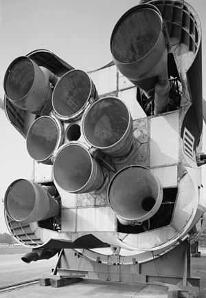 Rocketdyne H-1 - Eight H-1 engines in a Saturn I