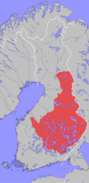 Savonian dialects - The area of Savonian dialects