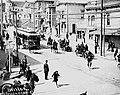 Scab streetcar led by police - San Francisco Street Car Strike 1907.jpg