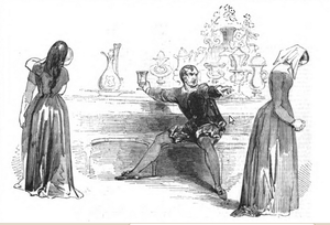 The City Madam - Scene from an 1845 London performance at Sadler's Wells Theatre