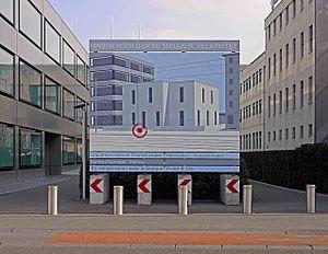 Thomas Huber (artist) - Maison pour quatre tableaux, Villa Pictet, 2012, billboard, Mamco, Genf, TH-2012-BS-05