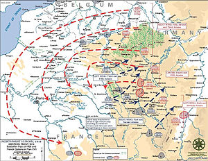 Mobilization - Map of the Schlieffen Plan and planned French counter-offensives