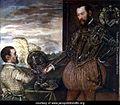 Scipio Clusone with a dwarf valet by Jacopo Tintoretto.jpg