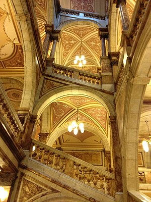 Glasgow City Chambers - The main Carrara Marble Staircase.