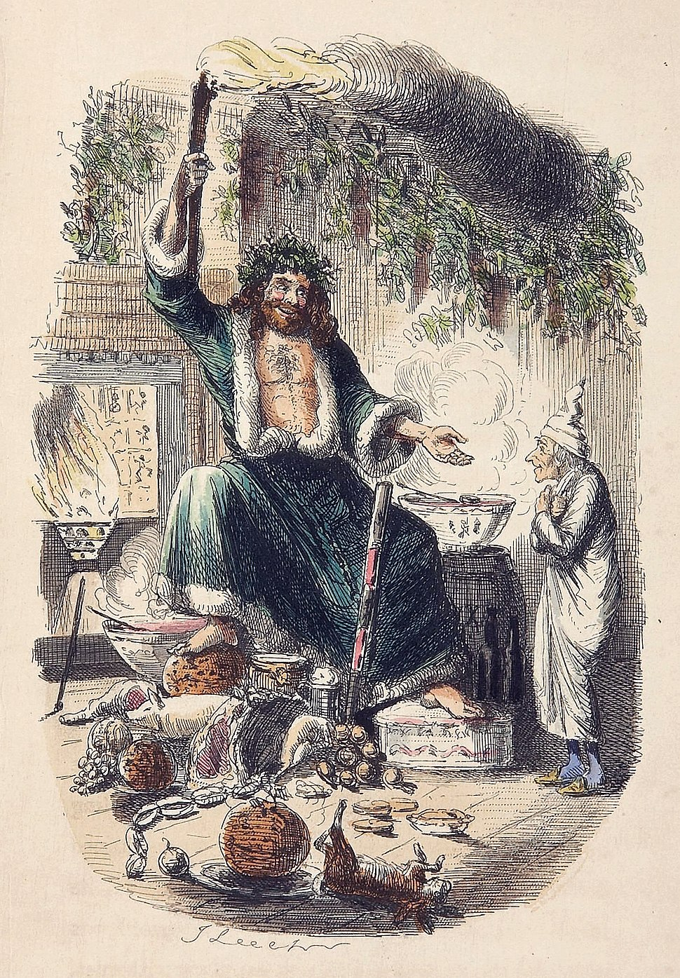 Scrooges third visitor-John Leech,1843 edit