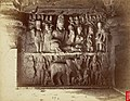 Sculpture of Shiva and Parvati in the Dumar Lena Cave Temple Cave XXIX, Ellora, by J. Johnston, c.1874.jpg