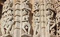 Sculpture on the walls of Jain temple at Ranakpur in Aravalli range near Udaipur Rajasthan India.jpg