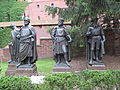 Sculptures of masters of Malbork Castle.JPG