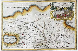 Scythia -  Scythia et Serica, 18th century map.