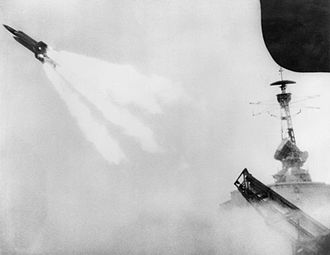 Seaslug (missile) - The firing of the first Seaslug test missile from HMS ''Girdle Ness'' (A387)