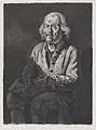 Seated Beggar- Portrait of Old Girard, a Peasant from Chasselay MET DP874578.jpg